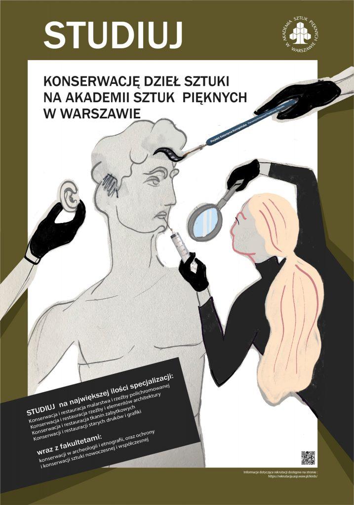 rekrutacja naWydział Konserwacji ASP wWarszawie, poster